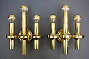 2x mid century SCIOLARI Style WALL SCONE lamp Vintage Hollywood Regency Glamour