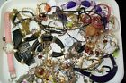 Job Lot Jewellery, Rings, Bracelets, Chains Earrings Gold And Silver Tone