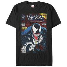 Venom Lethal Protector Comic Cover Men's T-Shirt Black