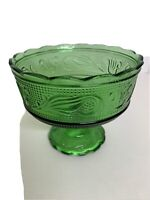 Emerald Green Pedestal Footed Bowl Dish Cleveland EO Brody Co M6000 Vintage