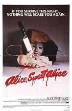 Alice Sweet Alice Poster 01 Metal Sign A4 12x8 Aluminium