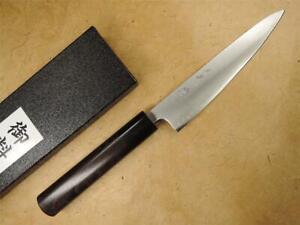 Tosa-ichi Ao Aogami Super Steel Japanese Wa-Petty Knife 135mm Rosewood  Handle