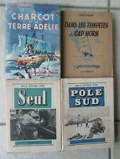 PÔLE SUD : 4 volumes 1937/1951. BYRD, LE CHARCOT.