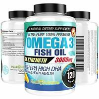 Ultra Pure Omega 3 Fish Oil (Triple Strength - 3000mg Per Serving) 120 Capsules