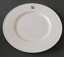 Villeroy & Boch W. Germany White With Red Blue Square Flag Design Dinner Plate