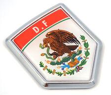 DF D.F Mexico Flag Mexican Car Emblem Chrome bike Decal 3D Sticker MX27
