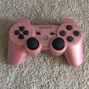 Official Sony PlayStation 3 PINK SixAxis DualShock 3 PS3 Controller BROKEN AS IS
