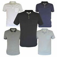 Ex Mens H&M Cotton Polo Shirt Contrast Collar Size S - XXL