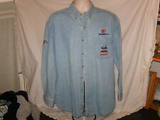 Men's Vintage Chase Authentic Size L Dale Jarrett #88 SS Denim Shirt