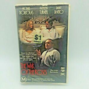 The War Of The Roses 1989 VHS PAL Clamshell Ex Rental CBS Fox Michael Douglas