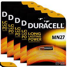 5X Duracell Alcalino MN27 12v Baterías A27 GP27A e27a EL812 Exp: 2020