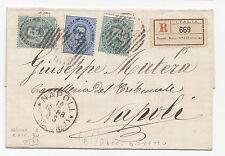 L520-UMBERTO 1°-RACC. DA NAPOLI X CITTA' 1888