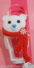 Bath & Body Works PocketBac Holder white holiday bear for hand sanitizer NEW