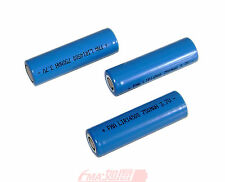 2X 14500 3.7V 750mAh True Capacity Li-ion Rechargeable Battery for Flashligt