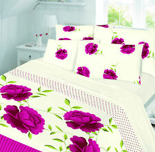 LUXURY THERMAL FLORAL FLANNELETTE SHEET SET - FLAT, FITTED SHEET & PILLOWCASES