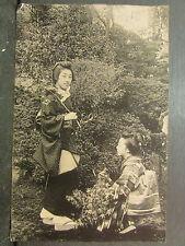 cpa japon japan femmes japonaises costume