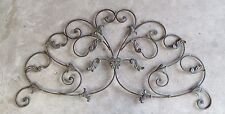 SCROLLING METAL ORNATE WALL ART EARTH TONE COLORS
