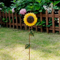 "Sunflower Garden Stake, Metal Outdoor Yard Decor Patio Ornaments Stake (21.5""H)"