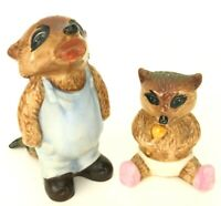 VTG The Ringtale Raccoons Goebel Figurine Figure Anthropomorphic Crying Kid Baby