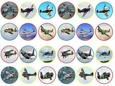 24 british fighter planes ww2 fairy cupcake toppers birthdays party edible paper