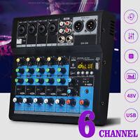 Professionell 6 Kanäle pro Studio Audio Mixer Konsole Heim bluetooth Dj Tisch
