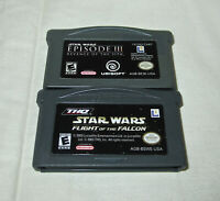 Gameboy Advance Star Wars Episode III & Flight of the Falcon Game Lot of 2 NES