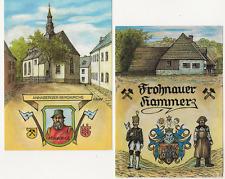 39/982  AK  FROHNAUER HAMMER WAPPEN BERGMANN ANNABERGER KIRCHE ADAM RIES 1988