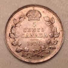 - Canada 1920 Five 5 Cents George V