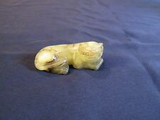 Very Fine Antique Chinese Green Nephrite Jade Dog/Tiger