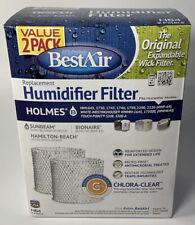 Best Air H64 Replacement Humidifier Filter Sunbeam Bonaire Hamilton-Beach 2 Pack