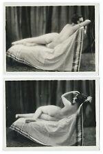 Photo curiosa - 24 x 18 - diptyque odalisque - femme art déco - circa 1930