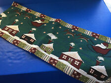 Santa's Christmas Sleigh Table Runner 73x13""