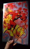 The Flash rare METALLIC FOIL PRINT 11x17 DC Comics