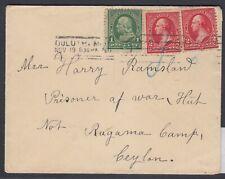 USA 1901 Sc 279B (2), 279 from Duluth Minn. to POW at Ragama Camp, Ceylon