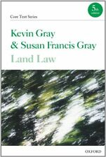 Land Law (Core Texts Series),Kevin Gray, Susan Francis Gray