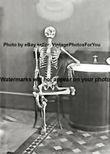 Vintage/Old/Antique Scary/Odd/Weird/Creepy Skeleton Bentwood Chair Photo/Picture