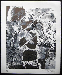 LASZLO DUS, Hand pulled Original Serigraph marked A/P, Lg. Striking composition