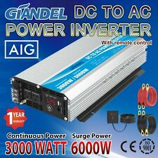 Power Inverter 3000W Modified Sine Wave 12V to 110V~120V USA Transistors GIANDEL