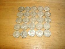 Lot of 25 Silver Washington Quarters Circulated