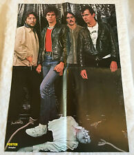 The Stranglers 1977 Punk Jet Black - Swedish Poster Magazine 1970s Rare Vintage