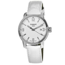 New Tissot PRC 200 White Dial Leather Strap Unisex Watch T055.410.16.017.00