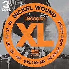 D'Addario EXL110-3D 3 Pack - XL Regular Light 10-46