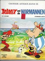 GROSSER ASTERIX BAND IX Asterix und die Normannen - Z1-2 ORIGINAL ERSTAUFLAGE