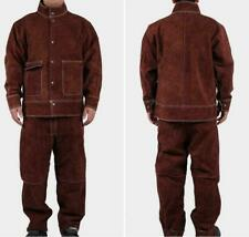 2020 Welder Jacket Pants Welding Safety Protective Cow Leather Working Apparel