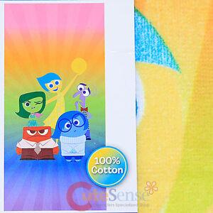 Disney Inside Out Beach Bath Towel Cotton 28x58 Joy Anger Sadness Fear Disgust