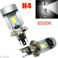 1PC H4 20w COB LED Hi/Lo Beam Motorcycle Headlight Front Lamp Bulb Bright 6500K