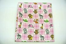 Jungle Tigers Elephants Turtles Monkeys Baby Blanket Can Be Personalized 36x40