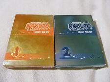 NARUTO UNCUT SHONEN JUMP'S 1 & 2 BOXED DVD SET LOT JAPANESE ANIME MANGA