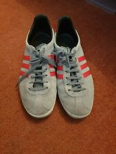 Men's Adidas Gazelle Trainers Size 7 Grey Red Stripe