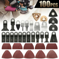 100PCS Oscillating Saw Blades Multi Tool Accessories Kit For FEIN BOSCH